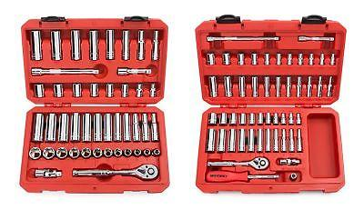 TEKTON 13101 3/8-Inch Drive Socket Set, Inch/Metric with TEK