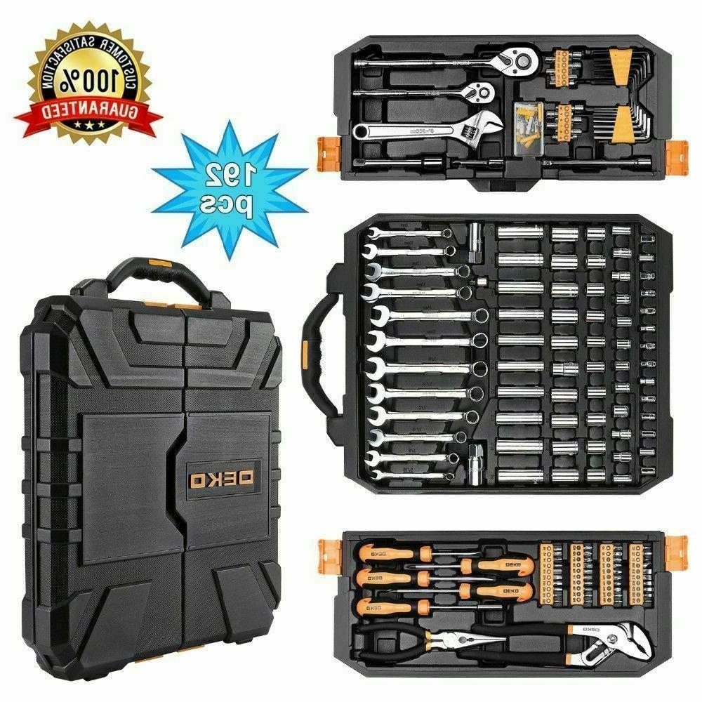 DEKO 192 PCS Tool Set Socket Wrench Set Auto Repair Hand Too