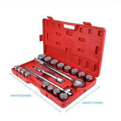 21 Pc Socket Wrench standard sae Tools Truck Sockets