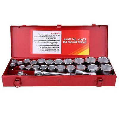 27x Wrench Socket Set -Extra Large Metric Truck Van