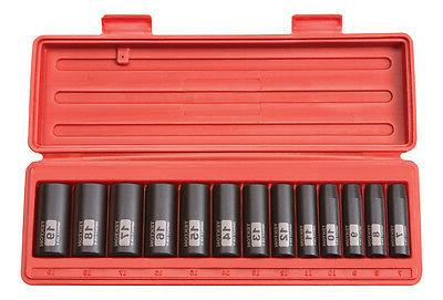 3/8 Drive 12-Point 7-19mm Deep Impact Socket Set