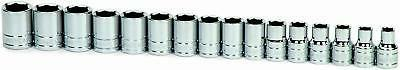 Williams 32943 16-Piece 1/2-Inch Drive Metric Shallow 6 Poin