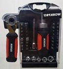 WorkPro 41 Pc Stubby Tool Set w/ Ratcheting Screwdriver & So