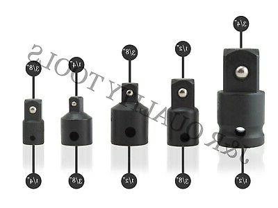 VCT 5pc Socket Adapter Reducer Cr-V Impact Driver