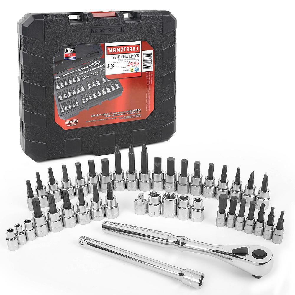 Craftsman 42 piece 1/4 and 3/8-inch Drive Bit & Torx Bit Soc