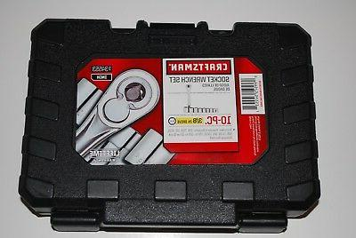 "New Craftsman 10-PC 6-pt 3/8"" Drive Inch Socket Wrench Set #"