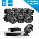 Zmodo 8CH NVR sPoE Repeater Full 1080p Outdoor Security Came
