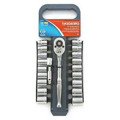 Crescent CSWS7 3/8-Inch Drive Socket Wrench Set, 20-Piece