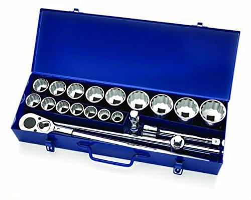 drive socket set metal sae