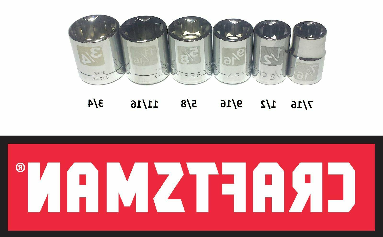 "CRAFTSMAN pc and 1/2"" DRIVE POINT SOCKET SET"
