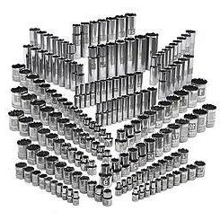 Craftsman 176 Piece Easy Read Socket Set, 6 and 12 Point, 1/