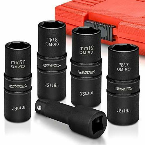 flip impact socket set thin
