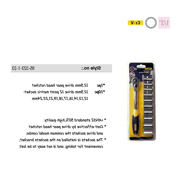 <font><b>Stanley</b></font> CR-V drive socket wrench with release <font><b>ratchet</b></font> spanner head metric