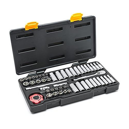GearWrench 80300P SAE/Metric 6 Standard and Deep 51-Piece