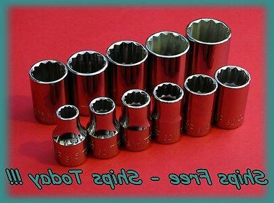 "Craftsman Master Socket Set 1/2"" Drive 11 Piece 12 Point SAE"