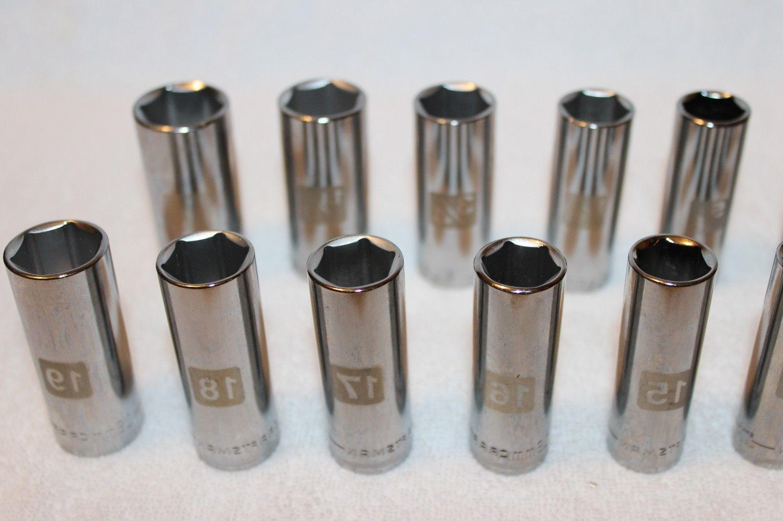 NEW 3/8 DEEP Set Metric & 6 LASER ETCHED