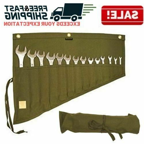 roll up tool pouch wrench set socket