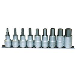 Teng Tools M1212 - 9 Piece 1/2 Inch Drive Metric Hex Bit Soc