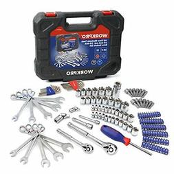 WORKPRO 145-piece Mechanics Tool Kit 1/4-inch and 3/8-inch D