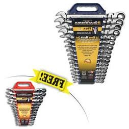 GearWrench 16-Piece Metric 12-Point Flex-Head Combo Ratcheti