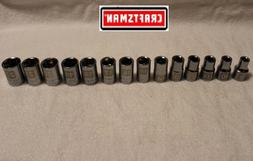 "NEW Craftsman 14 pc 1/2"" Drive 6 pt Metric Socket Set  LASER"