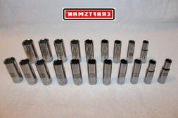 NEW Craftsman 20 pc 3/8 Drive DEEP Socket Set Metric & SAE 6