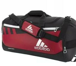 NWT ADIDAS TEAM ISSUE DUFFEL BAG HEAVY DUTY HYDROSHIELD RED/