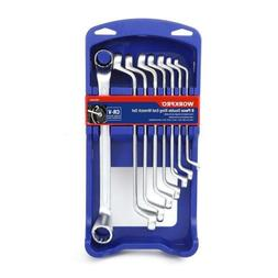 WORKPRO Offset Box End Wrench Set, 8-piece, Metric 6-22 mm,