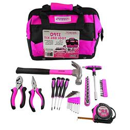 MASTERTEC Pink 37pc Tool Kit w/Storage Bag
