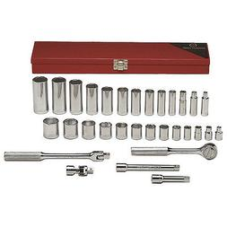 Wright Tool 339 6-Point Standard and Deep Socket 31-Piece, 3