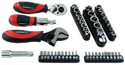 50 Piece Ratchet Socket and Wrench Set 28045