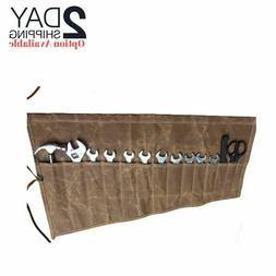 Roll Up Tool Pouch Socket Wrench Set Organizer Canvas Tool B