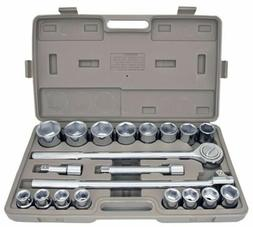 "21pc SAE 3/4"" Drive Socket Set w Storage Case Jumbo Ratchet"