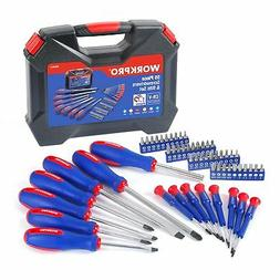 WORKPRO 56-Piece Screwdriver and Bits Set with Easy Organizi