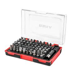 61-Piece Security Bit Set with Magnetic Extension Bit Holder