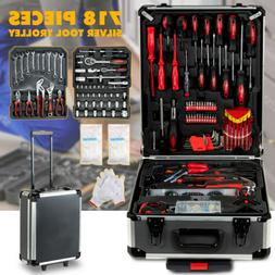 718 pcs Tool Set Standard Metric Mechanics Kit Case Box Orga