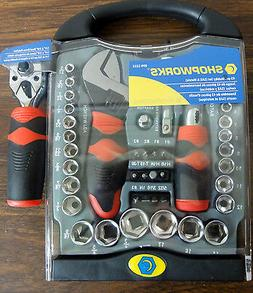 Shopworks 899-2335 45 Piece Stubby Socket Set SAE & Metric