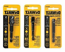 DeWalt 3-pc Socket Adapter Set includes DW2541IR, DW2542IR,