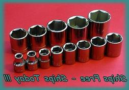 "Craftsman Socket Set 3/8"" Drive 13 Piece 6 Pt Point SAE Stan"