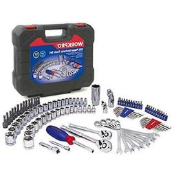 WORKPRO Drive Socket Wrench Set, 101-piece Mechanics Tools K