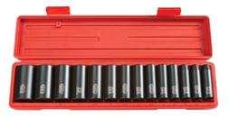 TEKTON 4879 1/2-Inch Drive Deep Impact 12-Point Socket Set,